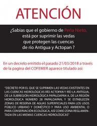 Cartel No a la Veda
